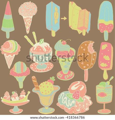 Ice Cream Soda Illustration Cute Cartoon Stock Vector 291555416 ...