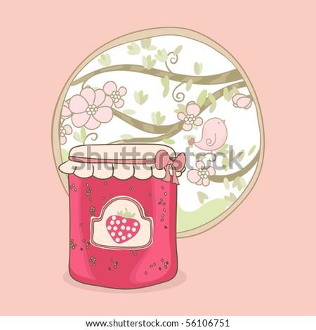 sweet jar - stock vector