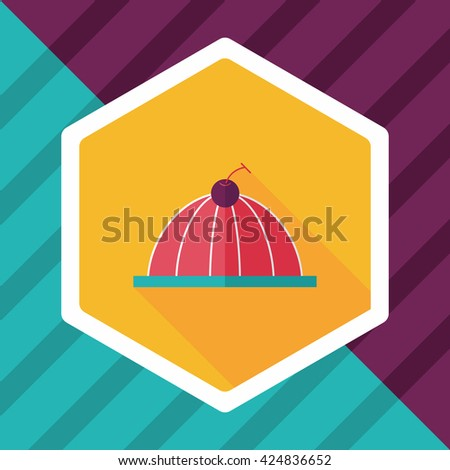 sweet jelly flat icon with long shadow,eps10 - stock vector