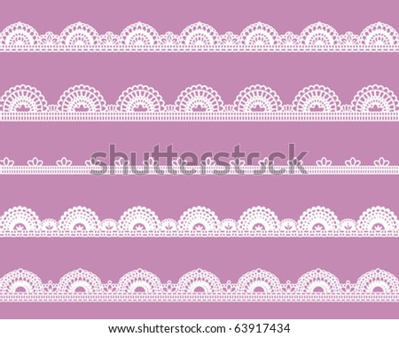 sweet lace - stock vector