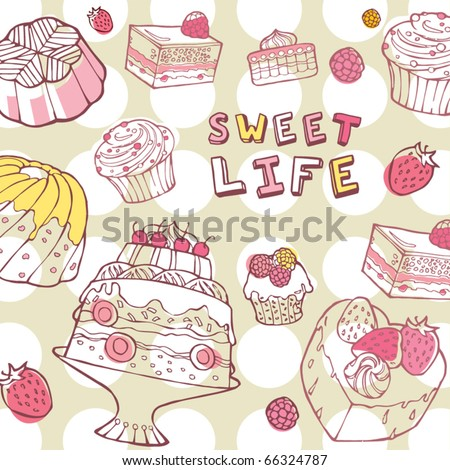 sweet life - stock vector