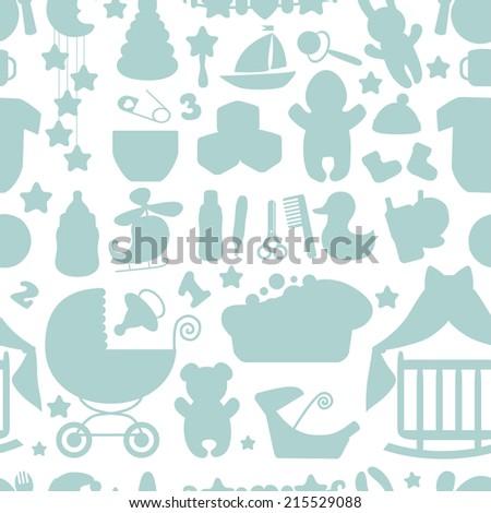 Sweet newborn seamless pattern baby boy stock vector 2018 sweet newborn seamless pattern by boy cartoon design elementsr fabric background voltagebd Image collections