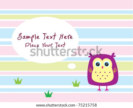 sweet owl doodle message card