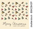 sweet retro seamless pattern for Christmas theme - stock vector