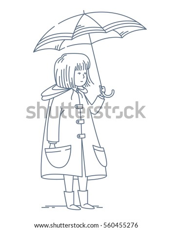 girl with umbrella drawing images galleries with a bite. Black Bedroom Furniture Sets. Home Design Ideas