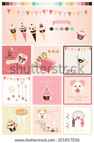 Sweet Scrapbook Collection 2 - stock vector