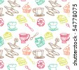 sweet seamless pattern - stock vector