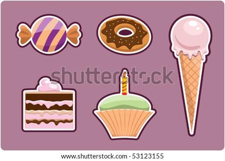 sweet set - stock vector