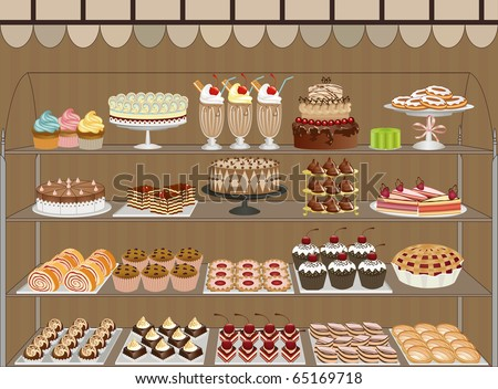 Sweet shop - stock vector