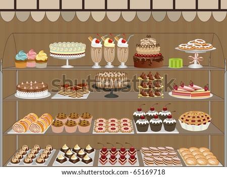 Sweet shop - stock vector