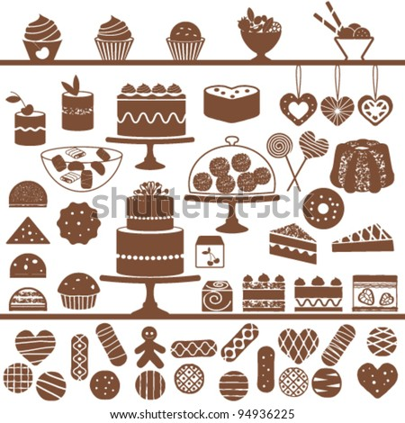 Sweets collection - stock vector