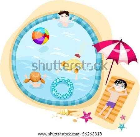 swimming pool - stock vector