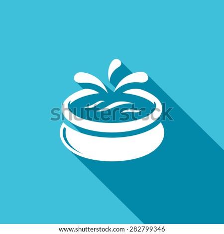 Swimming pool icon. Vector Illustration. - stock vector