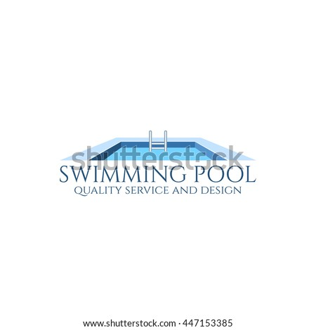 pool service logo. Swimming Pool Service And Design Logo. Vector Illustration. Logo