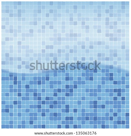 swimming pool water background - stock vector