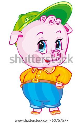 swine - stock vector