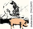 Swine Flu - stock vector