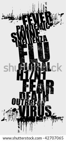 swine flu 2 - stock vector