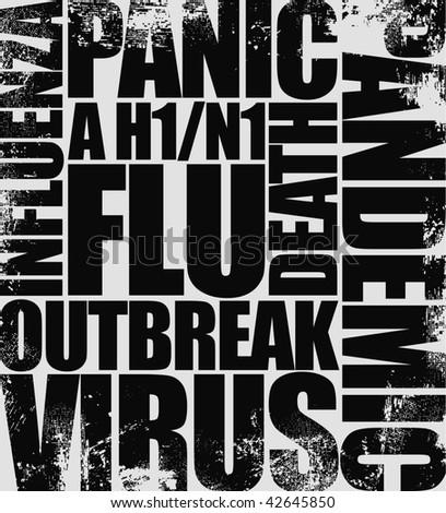 swine flu headline - stock vector