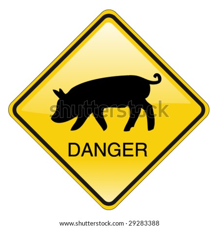 swine flu sign - stock vector