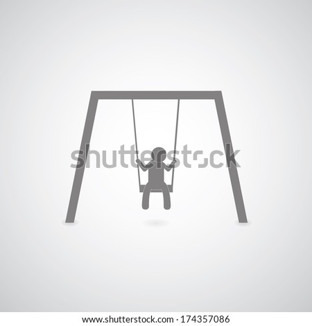 Swing symbol on gray background  - stock vector