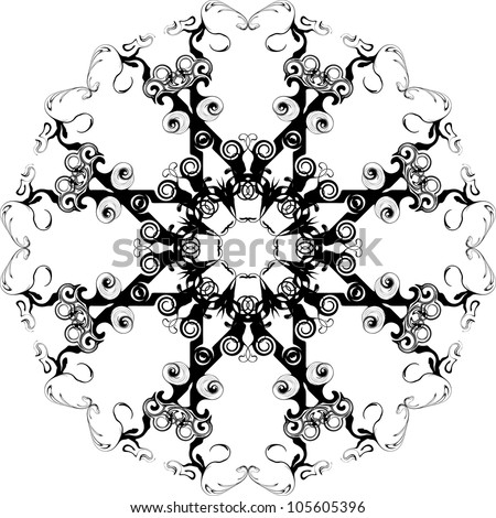 swirl background - stock vector