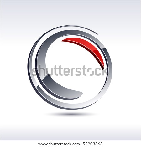 swirl 3d vector icon such logos.. - stock vector