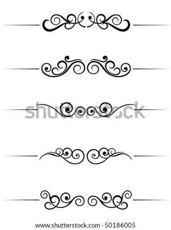 Swirl elements and monograms for design and decorate. Jpeg version also available - stock vector