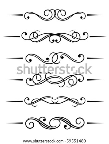 Swirl elements and monograms for design  Jpeg version also available    Single Swirl Pattern