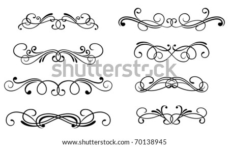 Swirl elements and monograms for design. Jpeg version also available in gallery - stock vector