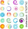 swirl logo set - stock vector
