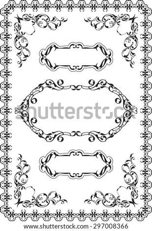 Swirl nice border is isolated on white - stock vector