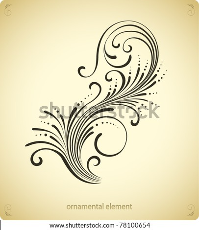 swirl ornament design - stock vector