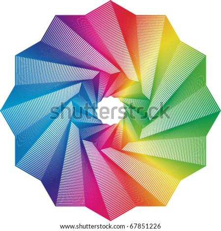 swirl rainbow colors spectrum - stock vector