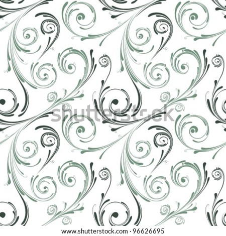 swirl seamless pattern - stock vector