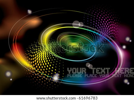 swirl,spiral illusion background - stock vector