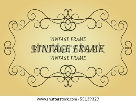Swirl vintage frame. Jpeg version also available in gallery - stock vector