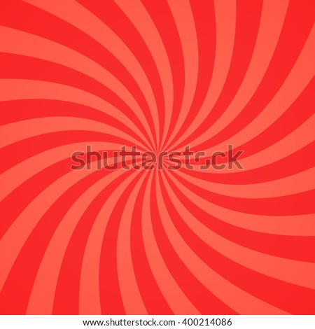 Swirling radial pattern background. Vector illustration for swirl design. Vortex starburst spiral twirl square. Helix rotation rays. Converging psychedelic scalable stripes. Fun sun light beams. - stock vector
