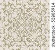 Swirls seamless pattern beige grunge ancient retro texture . - stock photo