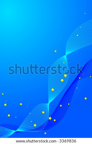 Swirly and Star background, vector background, fully editable