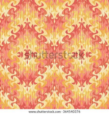 Swirly diamond pattern seamless vector background tile  - stock vector