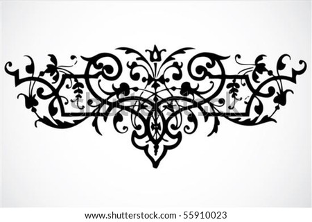 Swirly vector ornament. Easy to edit. - stock vector