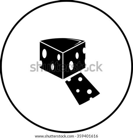 swiss cheese symbol - stock vector