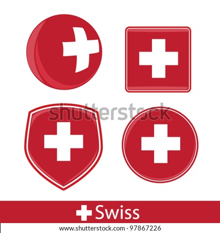 swiss icons - stock vector
