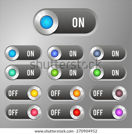 Switch button - stock vector