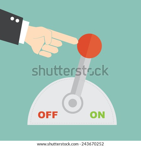 Switch for a new beginning - stock vector