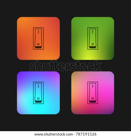 Switch on four color gradient app icon design
