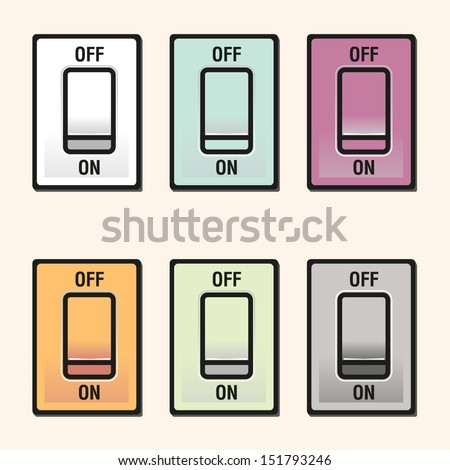 Switch ON/OFF icon, EPS10 vector format - stock vector