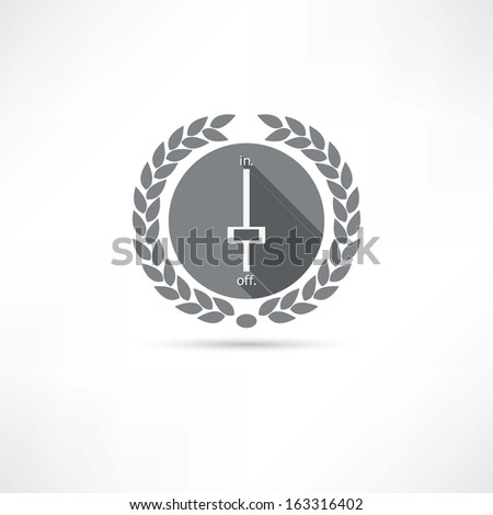 swithn off icon - stock vector