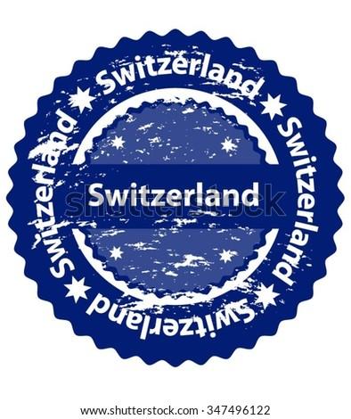 Switzerland Country Grunge Stamp - stock vector